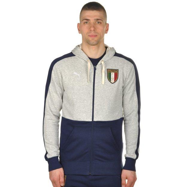 Кофта Puma FIGC Azzurri Zip Hoody - 100190, фото 1 - интернет-магазин MEGASPORT