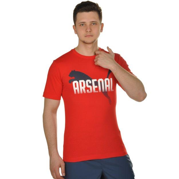 Футболка Puma Arsenal Fc Fan Cat Tee - MEGASPORT