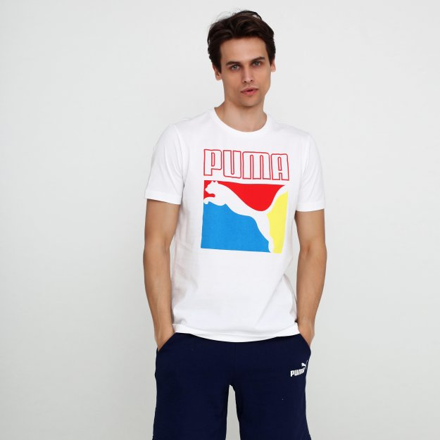 Футболка Puma Graphic Box Logo Tee - MEGASPORT