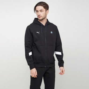 Кофты puma Bmw Mms Hooded Sweat Jacket - 123295, фото 1 - интернет-магазин MEGASPORT