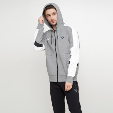 Кофты puma Bmw Mms Hooded Sweat Jacket - 123296, фото 1 - интернет-магазин MEGASPORT