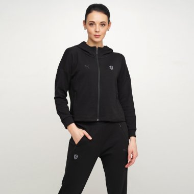 Кофти puma Ferrari Wmn Hooded Sweat Jkt - 122841, фото 1 - інтернет-магазин MEGASPORT