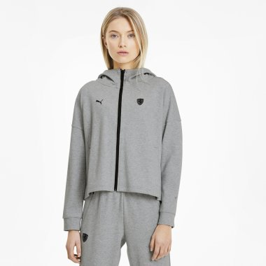 Кофти puma Ferrari Wmn Hooded Sweat Jkt - 123077, фото 1 - інтернет-магазин MEGASPORT