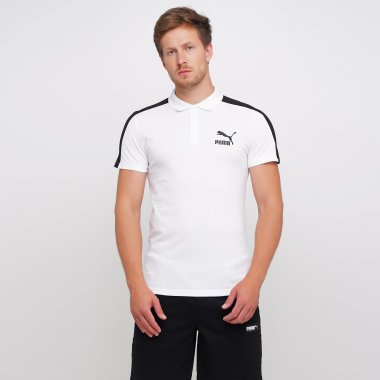 Поло puma Iconic T7 Slim Polo - 123313, фото 1 - интернет-магазин MEGASPORT