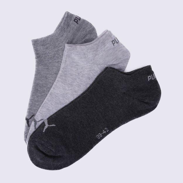 Носки Puma Unisex Sneaker Plain 3p - 106071, фото 1 - интернет-магазин MEGASPORT