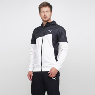 Вітровки puma Run Graphic Hooded Jacket - 125445, фото 1 - інтернет-магазин MEGASPORT