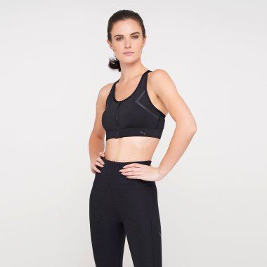 Топы puma High Impact Front Zip Bra - 125589, фото 1 - интернет-магазин MEGASPORT