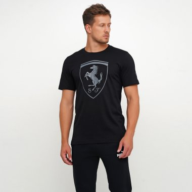 Футболки puma Ferrari Big Shield Tee - 119669, фото 1 - интернет-магазин MEGASPORT