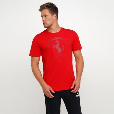 Футболки puma Ferrari Big Shield Tee - 119670, фото 1 - интернет-магазин MEGASPORT