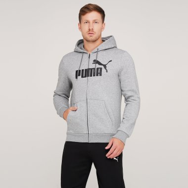 Кофты puma Essentials Fleece Hooded Jkt - 125883, фото 1 - интернет-магазин MEGASPORT