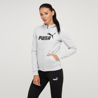 Кофты puma Essentials Fleece Hooded Jkt - 121014, фото 1 - интернет-магазин MEGASPORT