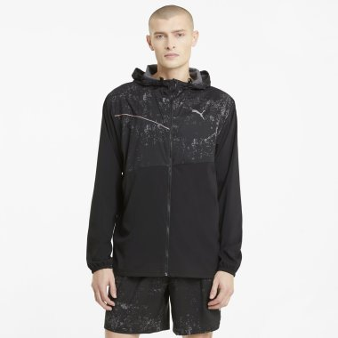 Вітровки puma Run Graphic Hooded Jacket - 128262, фото 1 - інтернет-магазин MEGASPORT