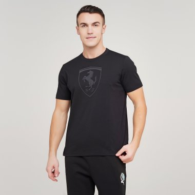 Футболки puma Ferrari Race Bg Shield Tonal - 128283, фото 1 - интернет-магазин MEGASPORT