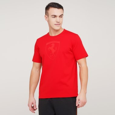 Футболки puma Ferrari Race Bg Shield Tonal - 128284, фото 1 - интернет-магазин MEGASPORT