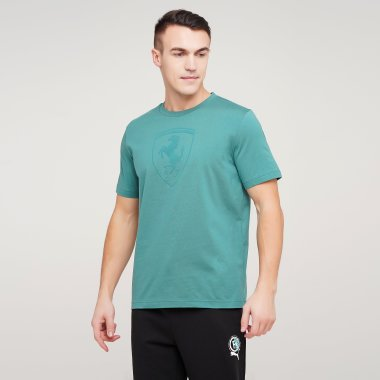 Футболки puma Ferrari Race Bg Shield Tonal - 128285, фото 1 - интернет-магазин MEGASPORT