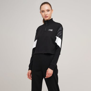 Кофты puma Rebel Half-Zip Crew - 127961, фото 1 - интернет-магазин MEGASPORT