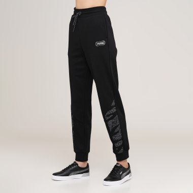 Спортивные штаны puma Rebel High Waist Pants - 127968, фото 1 - интернет-магазин MEGASPORT