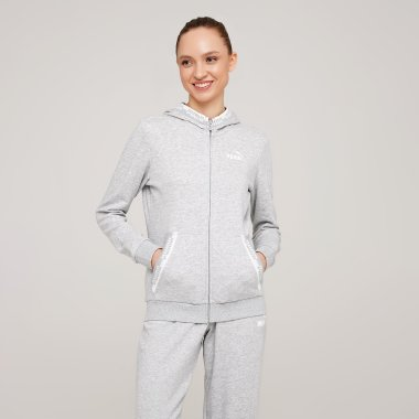 Кофты puma Amplified Full-Zip Hoodie - 127977, фото 1 - интернет-магазин MEGASPORT