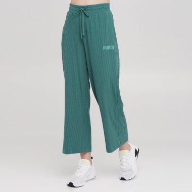 Спортивні штани puma Modern Basics Ribbed Wide Pants - 139968, фото 1 - інтернет-магазин MEGASPORT