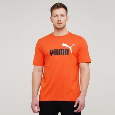 Футболки puma Ess+ 2 Col Logo Tee - 134934, фото 1 - интернет-магазин MEGASPORT