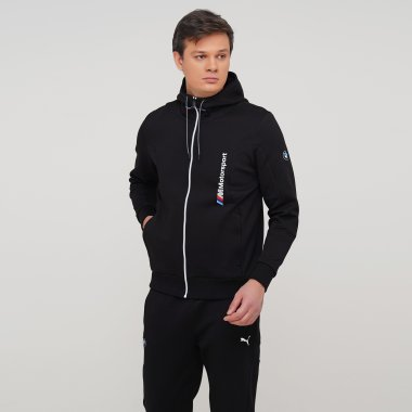 Кофты puma Bmw Mms Hooded Sweat Jacket - 128003, фото 1 - интернет-магазин MEGASPORT