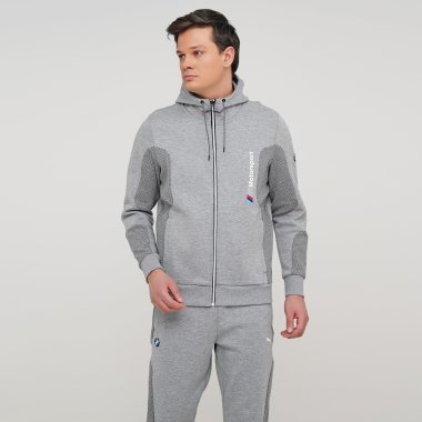 Кофты puma Bmw Mms Hooded Sweat Jacket - 128004, фото 1 - интернет-магазин MEGASPORT