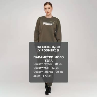 Кофты puma Ess+ Metallic Logo Crew Fl - 140603, фото 1 - интернет-магазин MEGASPORT