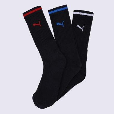 Шкарпетки puma Sport Crew Stripe 3p - 140869, фото 1 - інтернет-магазин MEGASPORT