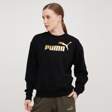 Кофты puma ESS+ Metallic Logo Crew FL - 140602, фото 1 - интернет-магазин MEGASPORT