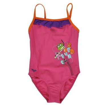 Купальники arena Awt Rouche Kids Girl One Piece - 110722, фото 1 - интернет-магазин MEGASPORT
