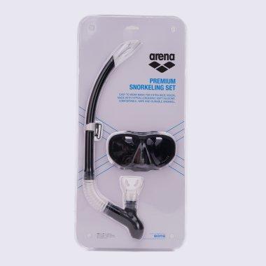 Очки и маска для плавания arena Premium Snorkeling Set - 117243, фото 1 - интернет-магазин MEGASPORT
