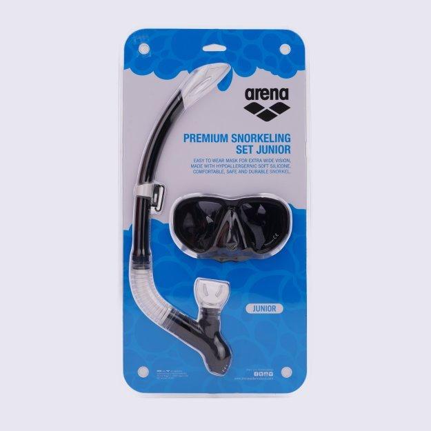 Очки и маска для плавания Arena Premium Snorkeling Set Jr - MEGASPORT