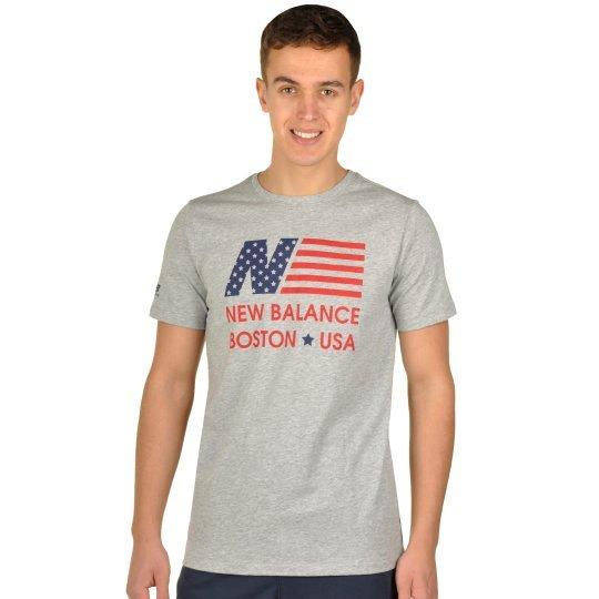 Футболка New Balance Gtee Flag - фото