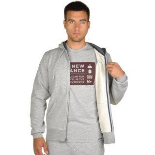Кофта New Balance Fz Fleece Hoodie - фото 5