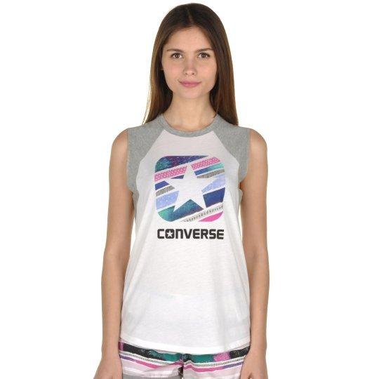 Майка Converse Box Star Stripe Slvlss Raglan - фото