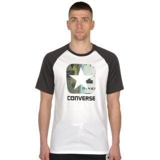 Футболка Converse Icon Pattern Fill Classic Fit Ss Raglan - фото 1