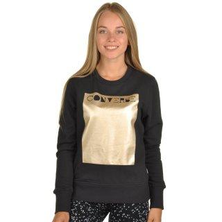 Кофта Converse Metallic Crewneck Sweatshirt - фото 1