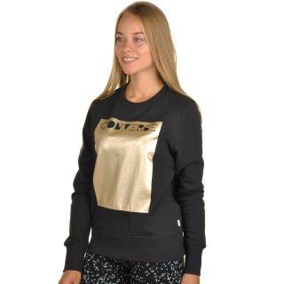 Кофта Converse Metallic Crewneck Sweatshirt - фото 2
