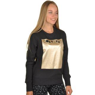 Кофта Converse Metallic Crewneck Sweatshirt - фото 4