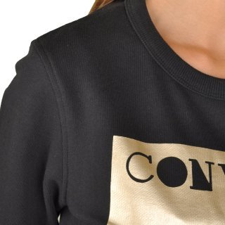 Кофта Converse Metallic Crewneck Sweatshirt - фото 5