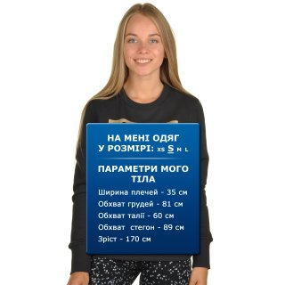Кофта Converse Metallic Crewneck Sweatshirt - фото 6