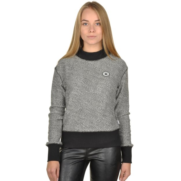 Кофта Converse Textured Mock Neck Crew - 96329, фото 1 - інтернет-магазин MEGASPORT
