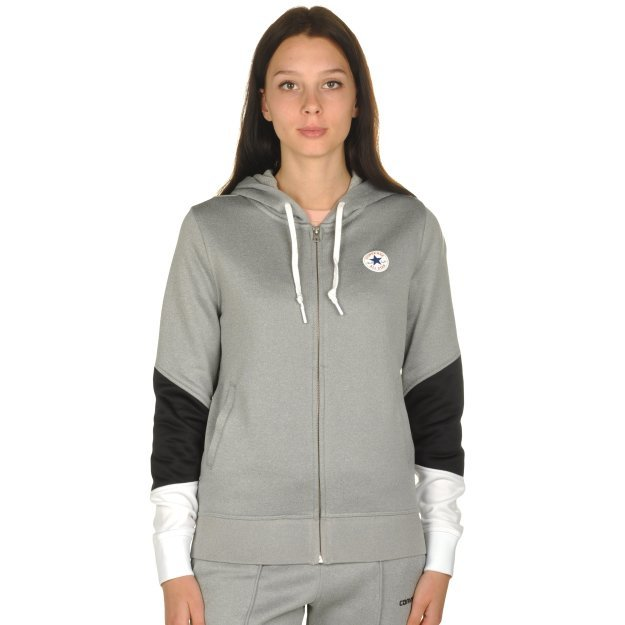 Кофта Converse Core Blocked Full Zip Hoodie - MEGASPORT
