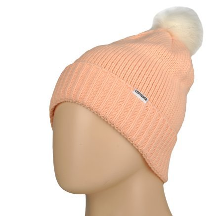 Шапка Converse Fur Pom Knit - 106995, фото 1 - інтернет-магазин MEGASPORT