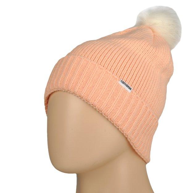 Шапка Converse Fur Pom Knit - MEGASPORT