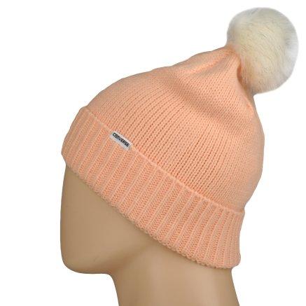 Шапка Converse Fur Pom Knit - 106995, фото 2 - інтернет-магазин MEGASPORT