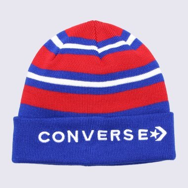 Шапки converse Striped Cuff Beanie - 113186, фото 1 - интернет-магазин MEGASPORT