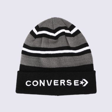 Шапки converse Striped Cuff Beanie - 113187, фото 1 - интернет-магазин MEGASPORT
