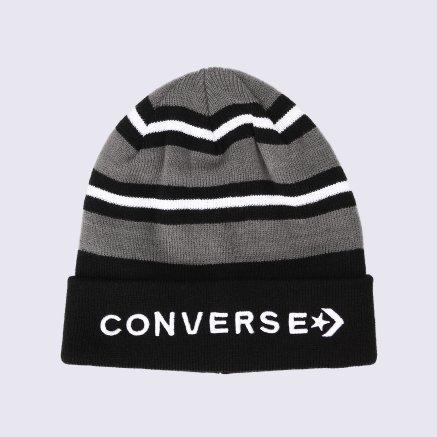 Шапка Converse Striped Cuff Beanie - 113187, фото 1 - интернет-магазин MEGASPORT