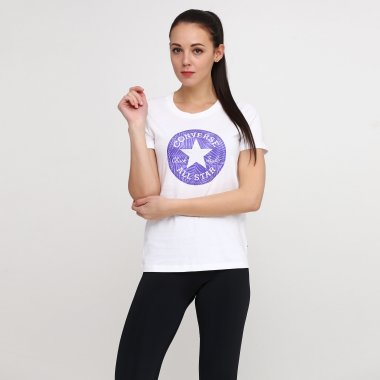 Футболки converse Seasonal Chuck Patch Palm Fill Tee - 117191, фото 1 - интернет-магазин MEGASPORT